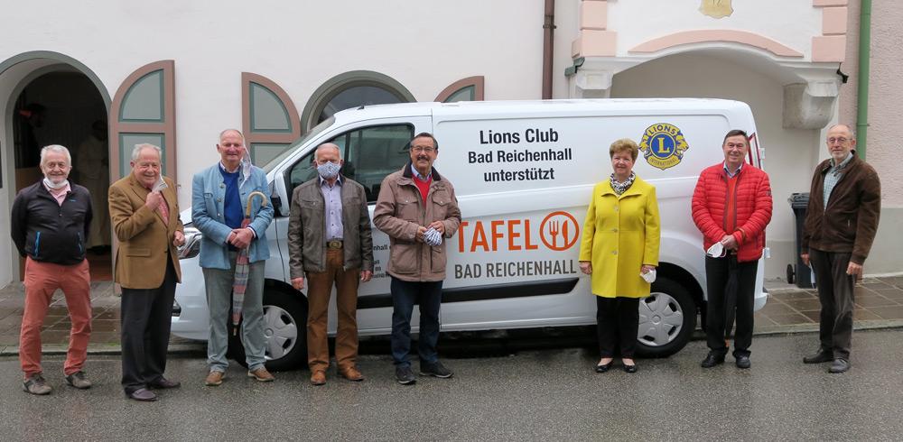Sponsoring und Einweihung eines neuen Fahrzeugs bei der Tafel Bad Reichenhall