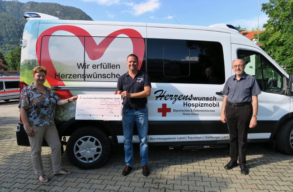 5000,00 € Spende für das neue BRK Herzenswunsch Hospizmobil