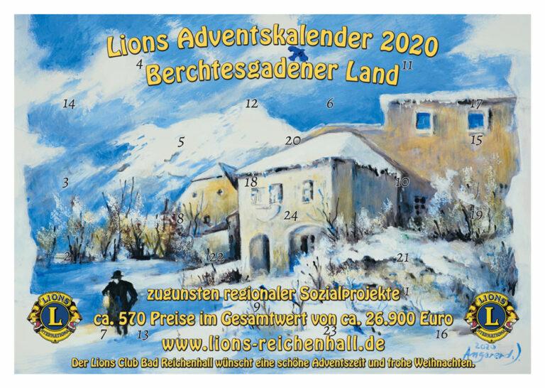 Lions-Adventskalender 2020 Berchtesgadener Land zugunsten von Sozialprojekten in der Region