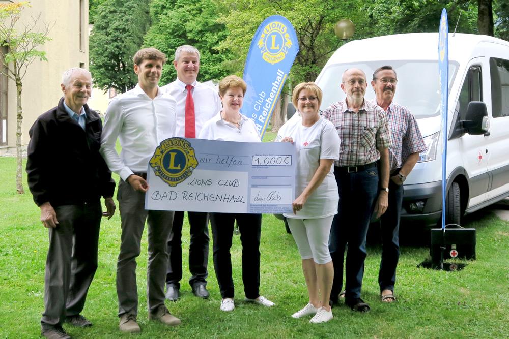 Lions Club Bad Reichenhall unterstützt Rotes Kreuz