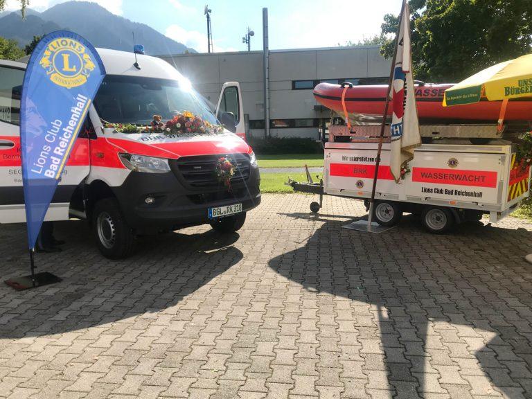 Spende von 8.500 Euro an die Wasserwacht